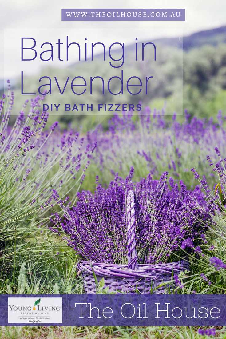 The Oil House | Bathing in Lavender | DIY Bath Fizzers