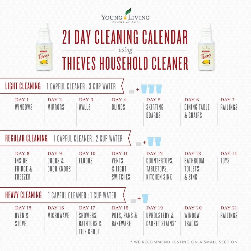 Home Cleaning Calendar | The Oil House